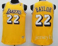 baylor jersey - Elgin Baylor Los Angeles white purple yellow retro throwback Jerseys size extra small XS S xl Sewn good
