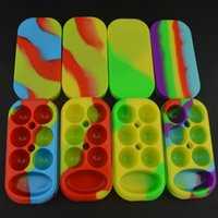 Cheap 2016 Wholesale Nonstick Wax Containers 6+1 Set Silicone Box Big Wax Can Silicon Container Non-stick Wax Jars Dab Storage Oil Vape Pen Holder