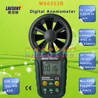 air velocity sensor - Mastech MS6252B Digital Anemometer T amp RH Sensor measure Air Wind Speed Velocity Meter USB Interface