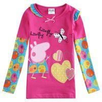 Wholesale Kids T shirts Girls T shirt New Cartoon Childrens Clothing Baby T shirts Cartoon Nova Kids Tops F5728Y