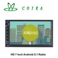 al por mayor resolución de la pantalla-Pantalla táctil de 7 Android 5.1 Doble Din Car DVD GPS de navegación por radio RDS BT de la agenda telefónica de 3G WIFI 1080P HD 1024 * 600 Resolución de núcleo cuádruple