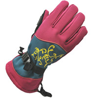 Wholesale Noble ski gloves women design Popular crane outdoor sport Hot sale Winter Warm cuff skate hand protect