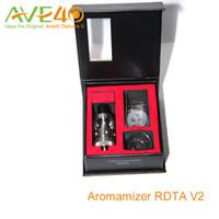 Vapor Crave Aromamizer RDTA V2 tanque 3ml 6 ml RDA estilo de composición baraja de cuatro agujeros grandes para Flujo de aire ajustable vs Griffin 25 de flujo de aire superior