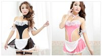 Wholesale Sex Maid uniform Ladies Sexy Underwear Body Lingerie Erotic Costumes Sex Clothes For Women Free Size