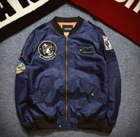 air force logos - The new air force pilot jacket couples MA1 charge embroidery badges popular logo clothing baseball jacket