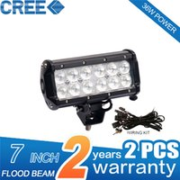 Wholesale 30 Degree LED Working Lights Cool White Rectangle Waterproof W Inch Flood Beam Front Driving Lights