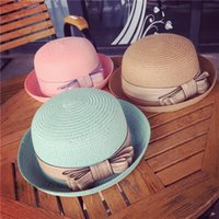 Wholesale 8 Styles Sun Hats Cap For Women Summer Beach Bow knot Hat Women With Big Heads Fashion Lady s Sun Hat