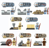 Wholesale Military World War II Minifigures China Army Japan Soldier bricks Hitlerry Building Blocks Set Models Toys