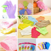 Wholesale Factory price Exfoliating Bath Glove Magic fingers bath gloves Bath gloves scrub and wash towel chamfer bath gloves