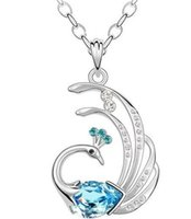 artificial jewelry online - JS N080 Indian Favorite Peacock Necklace White Gold Plated CM Long Necklace Online Shopping Artificial Jewelry