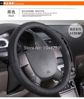 aveo steering wheel - Hand sewing leather CM Car steering wheel cover with needle and Thread for chevrolet cruze EPICA Captiva LOVA AVEO malibu