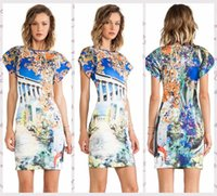 athena prints - Nice Women Garden of Athena Print Dress vestidos Aztec Printing work dress vestidos de fiesta Pop brand casual sexy dress S22258