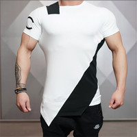 Wholesale Summer of The Stadium Shark Stringer T shirt Man Body Engineers Bodybuilding And Fitness Crime Short Sleeve T shirt