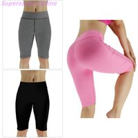 Wholesale Women Fitness Fifth Pants Outdoor Jogging Skinny Capris Breathable Stretched Gym Shorts Knee Length Short Pants Summer America