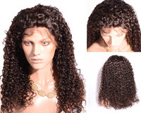 Wholesale Raw natural Human Hair Full Lace Wig Unprocessed A Top Quality kinky curly Lace Front Wig for Black African women