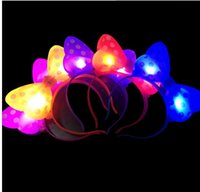 Wholesale 2016 new Hot flashes bowknot hairpin children creative girl gifts manufacturers light emitting toys