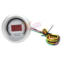 Wholesale Xpower White Auto Car quot mm Air Fuel Ratio Red Digital Color LED Gauge Meter NEW