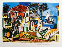 abstract art pablo picasso - High Quality genuine Pure Hand Painted Abstract Art oil Painting On Thick Canvas Multi Size Pablo Picasso MEDITERRANEAN LANDSCAPE