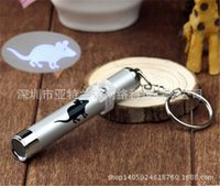 Wholesale PET Funny Cat Dog Pet Toys LED Laser Pointer light Pen With Bright Mouse Animation Pets Supplies ZD031