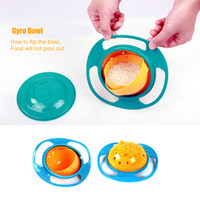 Wholesale New Baby Kid Boy Girl Gyro Feeding Toy Bowl Dishes Spill Proof Universal Rotate Technology Funny Gift pratos