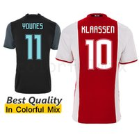 Wholesale Top Thai Quality Ajax Jersey SINKGAAVEN TAAOAE KLAASSEN YOUNES Ajax Soccer jersey Home Red Away Black football uniforms Shirts