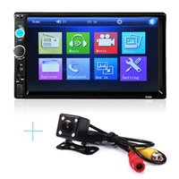 Wholesale 2 Din quot TFT Bluetooth V2 Car Radio Audio MP5 Player Auto Video with Rear View Camera Support AUX FM USB SD MMC Remote Control
