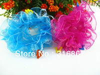Wholesale gym case Assorted Colors LACE HAIR SCRUNCHIE PONYTAIL ELASTIC GYM SPORT DANCE SCHOOL gym bench