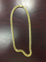 big rope chain necklace - Sterling Silver Yellow Gold Plated Big Men s Miami Cuban Necklace Grams