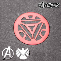 Wholesale The avengers alliance iron man SHIELD reactor metal stickers D Metal Cell Phone Mobile Sticker Computer Car phone sticker