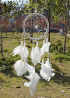 antique hanging - Dream Catcher Circular With feathers Wall Hanging Decoration Decor Ornament Gift