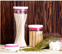 Wholesale Coffee beans sealed cans eco friendly glass seal cans storage bottle and jar for powder flower tea