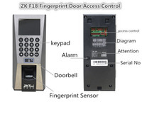 access control management system - DHL Free ZK F18 Biometric Building Management System Fingerprint Access Control and Time Attendence Office Home Security System Door locks