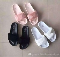 beach dress shoes - Hot Sell New Leadcat Fenty Women s and girl s Villi Slippers Casual Shoes Beach Sandals Rihanna Pink Black and White Slippers