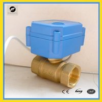 Wholesale CWX DN15 brass way motorized ball valve AC DC9 v CR03 three wires electric ball valve for water treatment water leakage