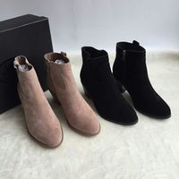 Wholesale Women Ankle Chelsea Boots Casual West Shoes European Style Martin Boots Size