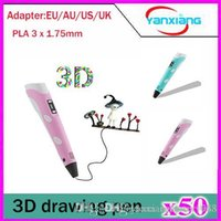 Wholesale 50pcs D Printing Pen with LCD Display for d drawing d doodler d crafting YX DY