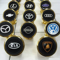 metal bracket - 2016 Mobile Phone Bracket Degree Rotating Magnetic k gold plated metal badge Car holders for samsung S7 S7 Edge iphone s HTC SONY LG
