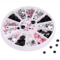 Wholesale Brand New Colors Nail Art Decorations Nail Stone Rhinestones with Pack Small Container JC03222