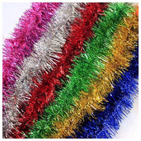 Wholesale 2M cm festive party supplies tinsel Festive color bar Christmas ribbon Party Wedding Stage Decoration colored ribbon BY DHL