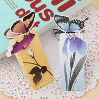 Wholesale 50 D Butterfly Bookmark For Beautiful Birthday Christmas Gift Book Mark Office School Supplies exquisite stationery