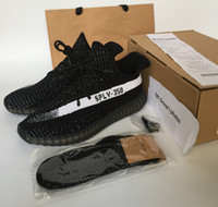 bag box man - New kanye west SPLY Boost Season shoes boost pirate black AQ5831 Man Running Shoes Sneakers Keychain Socks Bag Receipt Boxes