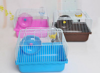 Wholesale Small Size Hamster Cages Small Animal Pet Rats House Habitats Hutches Storage Box Cage For Hamsters Pets Supplies Min Order