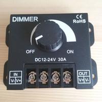 Wholesale LED Dimmer DC V V A Stepless Adjustable Brightness Lamp Bulb Strip Driver Single Color Light Power Supply Controller