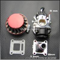 Wholesale 2 stroke pocket bike mm carburetor set carb amp air filter for kids mini bike ATV with cc cc engine