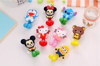 Wholesale Hot colors Cute Hello Kitty Cartoon suction cup toothbrush holder bathroom accessories kids gifts home decor