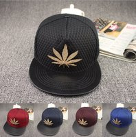 autumn maple leaf - New Wed Snapback Caps Hats Wed Ball Cap Wed Hip hop Snapback Baseball Cap Sun Hats Hip Hop Baseball Caps Maple Leaf Hats D467