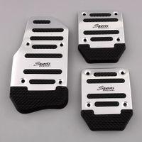 Wholesale OEM Black Silver Aluminium Alloy Non slip Pedal Foot Treadle Cover Car Auto Vehicle Interior Parts