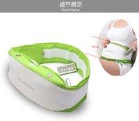 (10pcs / lot) Contrôle de poche PU Éliminez abdominale ceinture ventre gras électrique minceur Vibrant Massage Fat Burning