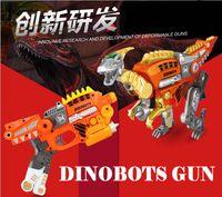 Wholesale Transformable Toy Gun Can Shoot EVA Soft Bullet Change Into Dinosaur Dragon Gift For Boy dinobots gun Soft bullet Velociraptor