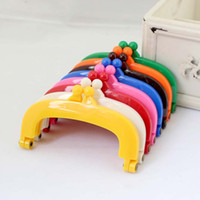 Wholesale 20 High Quality CM Candy color plastic resin Purse Frame partchwork for bag Mixed color